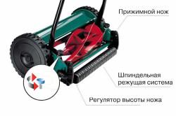 Схема устройства шпиндельной газонокосилки