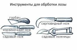 Инструменты для обработки лозы для плетня
