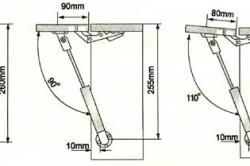 Схема укрепления откидного стола