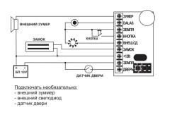 Схема магнитного замка