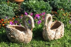 Лебеди из глины своими руками