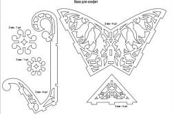 Пример чертежа вазы из фанеры