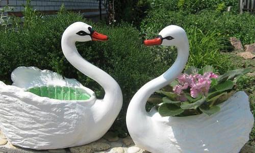 Декоративные фигурки лебеди