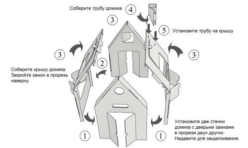 Игровой домик из картона