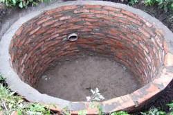 Кирпичный накопительный резервуар