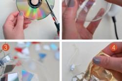 Изготовление диско-шарика из компакт-дисков