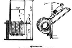 Схема качелей Кузнечик