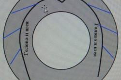 Схема клумбы-лебедя из покрышки