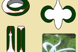 Схема лебедя из покрышки