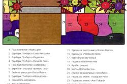 Схема парадного палисадника