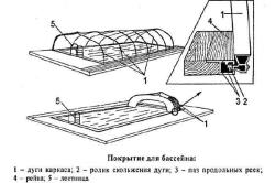 Схема покрытия для бассейна
