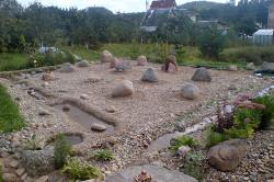 Типичный японский каменный сад
