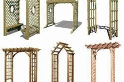 Виды деревянных пергол