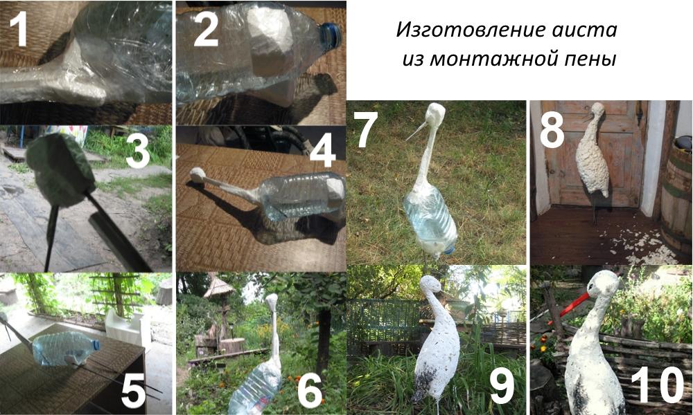 Как сделать декоративное гнездо для аиста своими руками декоративного