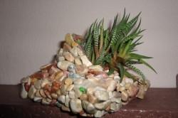 Кашпо из камней своими руками