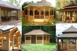 Варианты оформления деревянных беседок