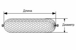 Цилиндрическая форма из сетки для габиона