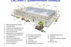 Система для бассейна с применением скиммера