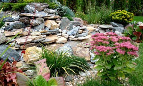 Камни в ландшафтном дизайне сада