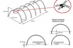 Схема крепления дуг парника
