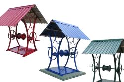 Металлическая крыша для колодца