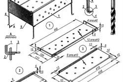 Схема передвижного металлического гриля
