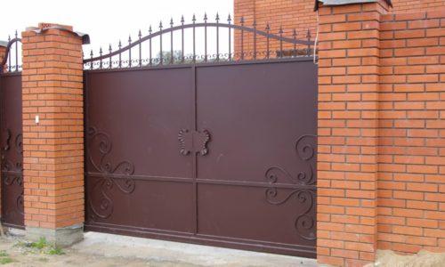 Металлические ворота для дачи или частного дома
