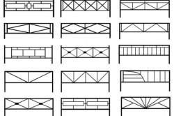 Схема разновидностей деревянных ограждений