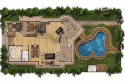 Схема места под бассейн