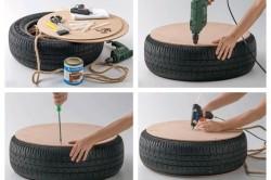 Мобильная песочница из шины