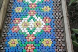 Дорожка в виде мозаики