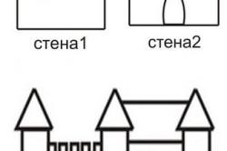 Схема красивого замка с 3 башнями