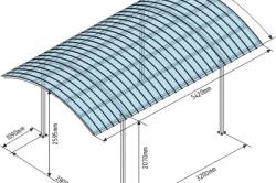 Примерные размеры навеса для автомобиля из поликарбоната