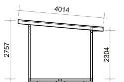 Чертеж дровяника с односкатной крышей