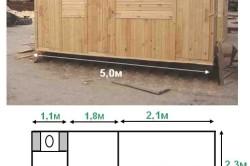 Проект хозблока с душевой и туалетом под определенные размеры