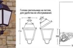 Устройство традиционного паркового светильника