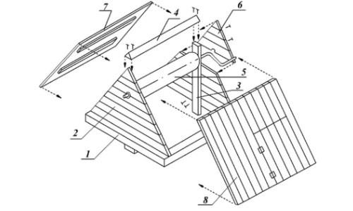Схема деревянного домика для колодца