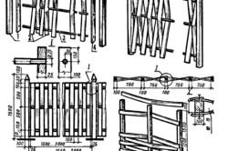 Схема вертикального и горизонтального плетения забора