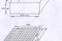 Схема простого мангала из металла
