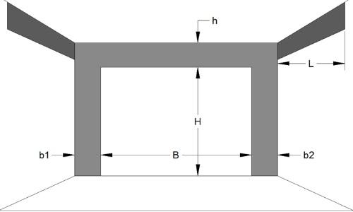 Замер секционных ворот