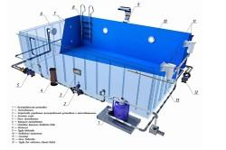 Схема каркасных моделей бассейнов для дачи