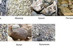 Виды камней для устройства дорожек