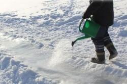 Заливание ледяной горки