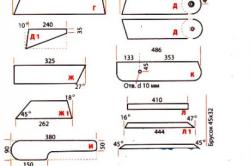 Детали скамьи-трансформера