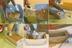 Этапы изготовления вазона из бетона