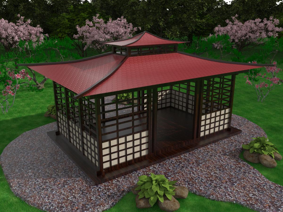 Крыша своими руками в китайском стиле