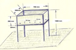 Основные размеры простого металлического мангала