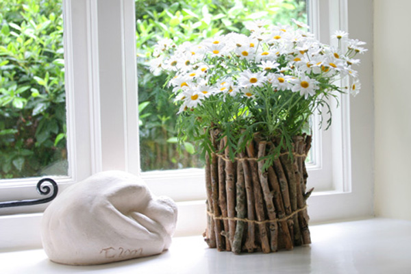 Горшки для цветов из подручных материалов своими