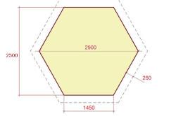 Размеры основания шестигранной беседки