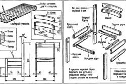 Схема сборки садового стула